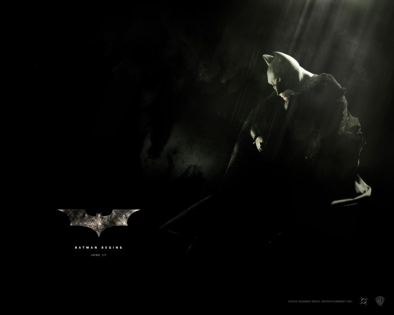 Batman Alone Black Poster Wallpaper 1280x1024