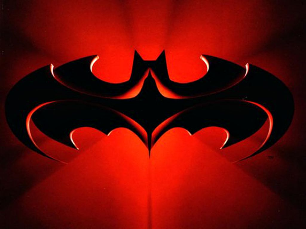 Batman And Robin Logo Red Wallpaper 1024x768