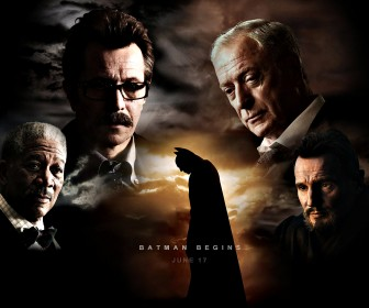 Batman Begins Characters Collage Wallpaper