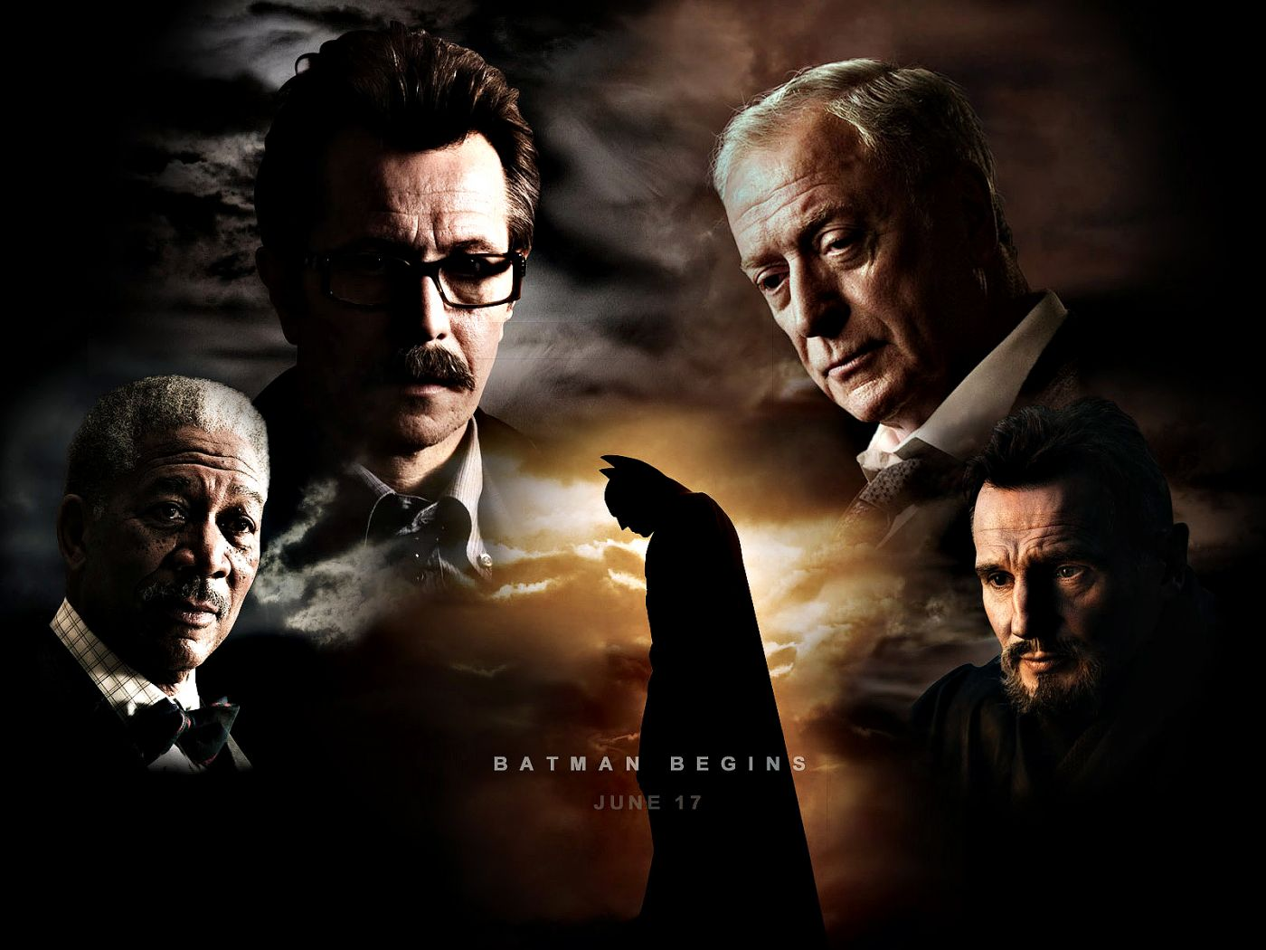 Batman Begins Characters Collage Wallpaper 1400x1050