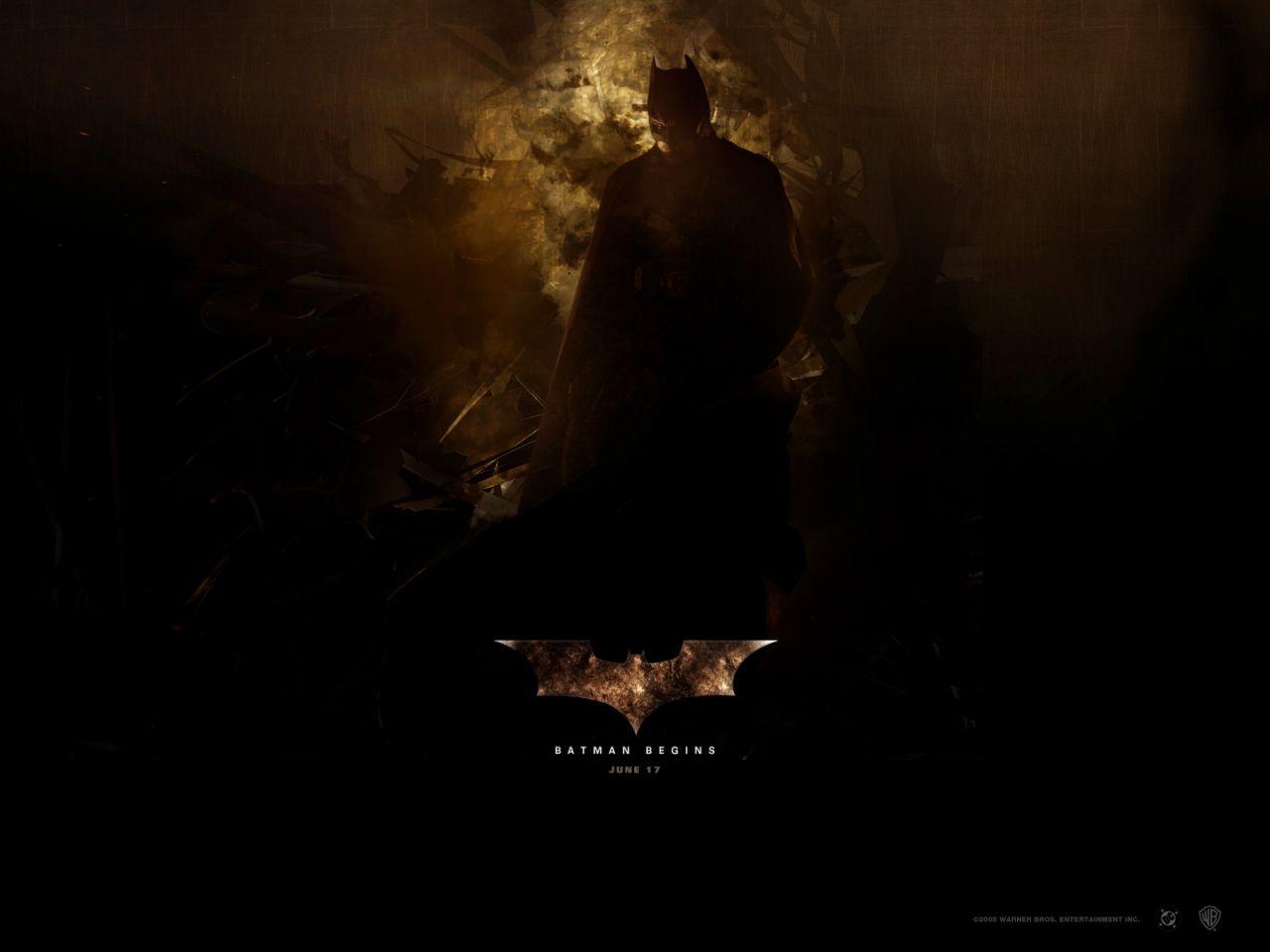 Batman Begins June 17 Poster Wallpaper 1280x960