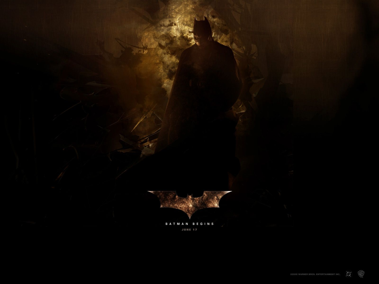Batman Begins June 17 Poster Wallpaper 1600x1200