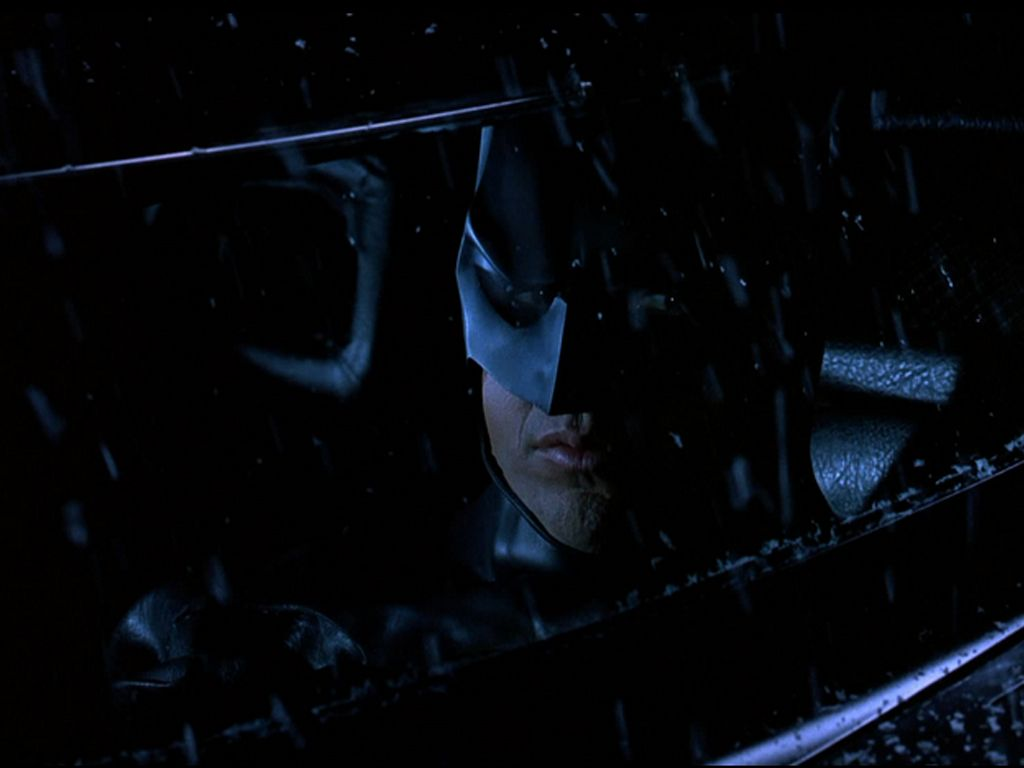Batman Close Up Driving Wallpaper 1024x768