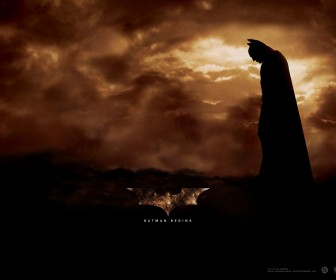 Batman Clouds Background Poster Wallpaper