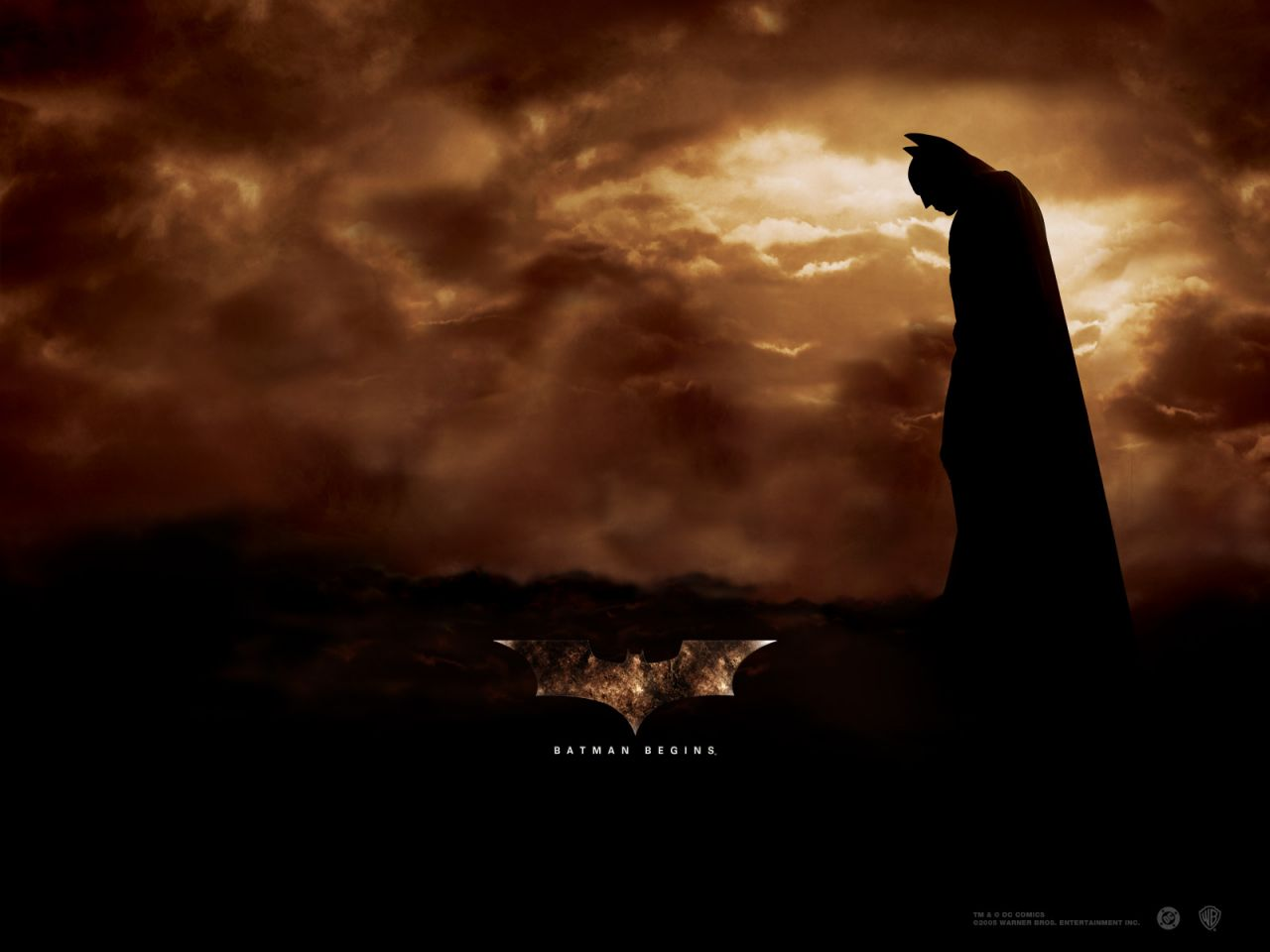 Batman Clouds Background Poster Wallpaper 1280x960