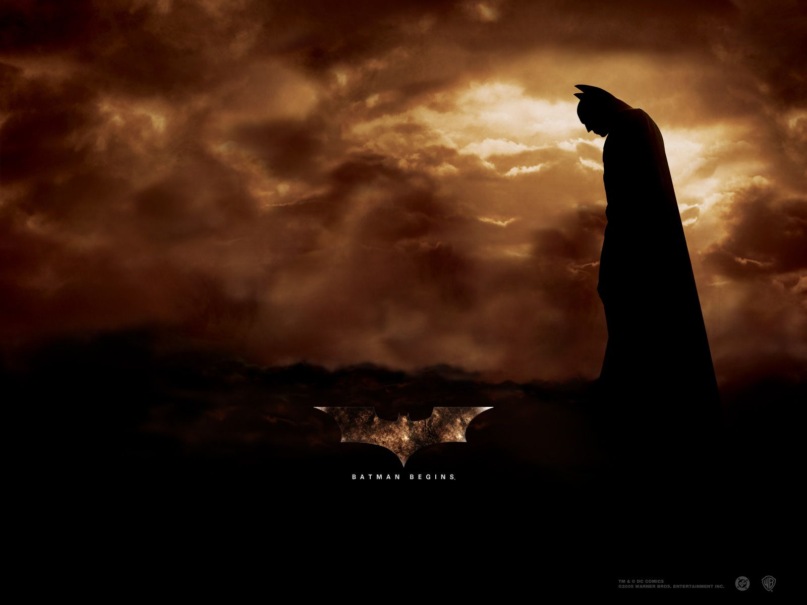 Batman Clouds Background Poster Wallpaper 1600x1200