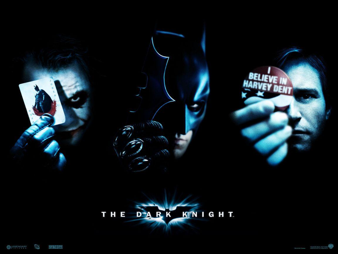 Batman Harvey Joker Faces Poster Wallpaper 1152x864