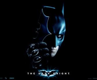 Batman Holding Metal Bat Emblem Wallpaper