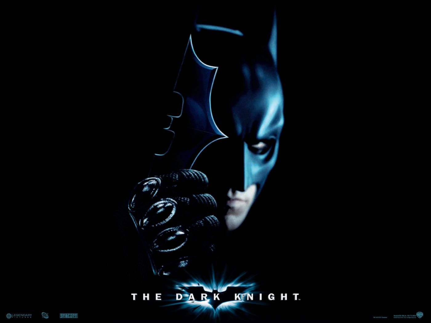 Batman Holding Metal Bat Emblem Wallpaper 1400x1050
