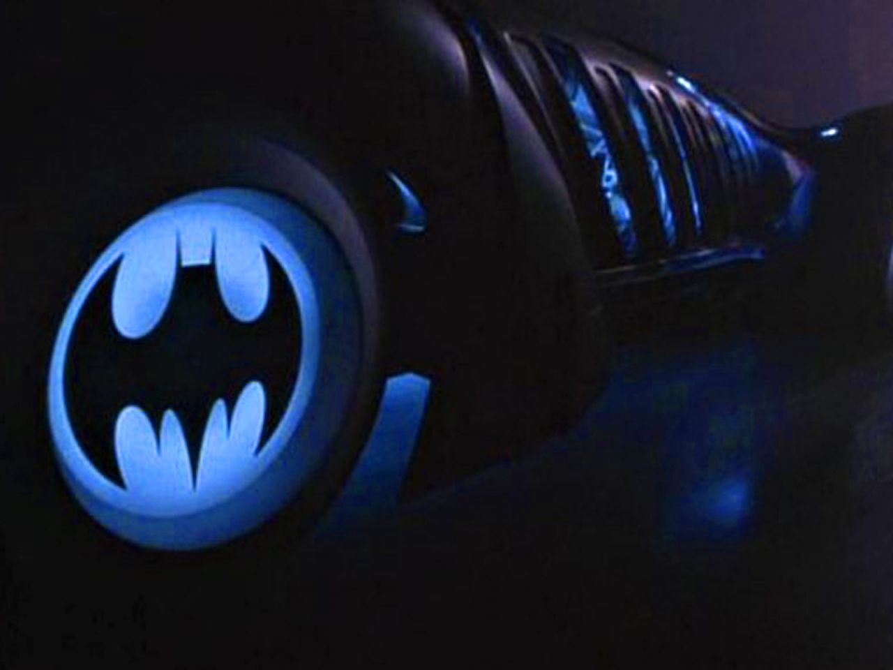 Batman Logo On Batmobile Wheels Wallpaper 1280x960