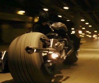 Batman Riding Fast On Motorcycle Wallpaper