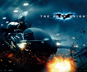 Batman Riding Motorcycle Poster Wallpaper