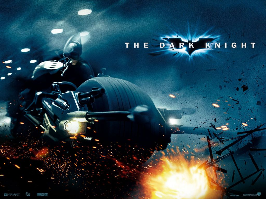 Batman Riding Motorcycle Poster Wallpaper 1024x768