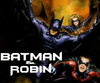 Batman Robin Batgirl Flying Collage Wallpaper