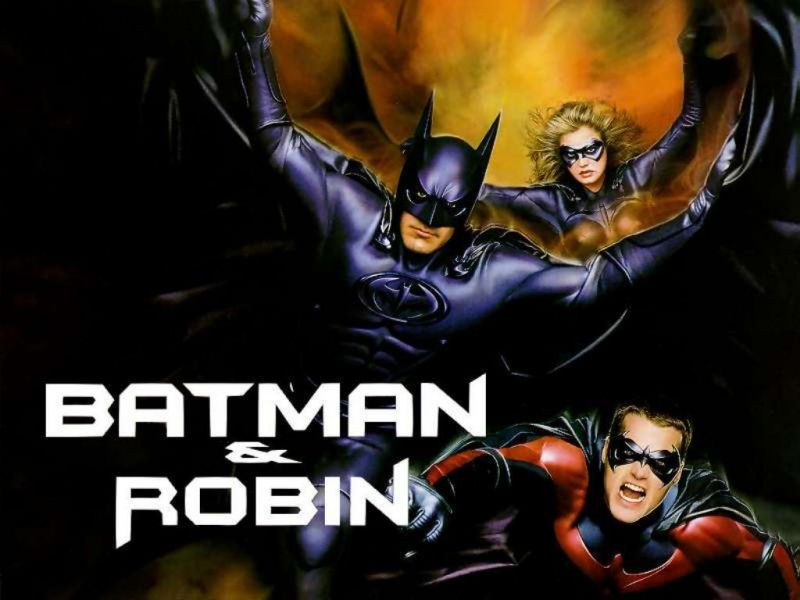 Batman Robin Batgirl Flying Collage Wallpaper 800x600