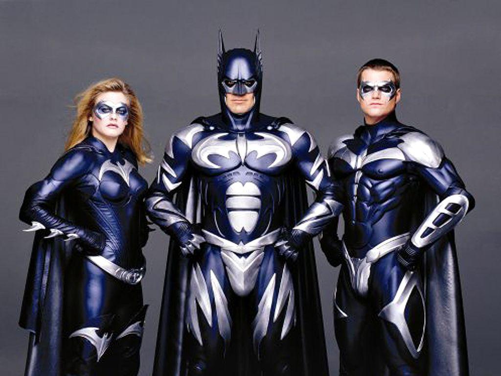 Batman Robin Batgirl Portrait Wallpaper 1024x768