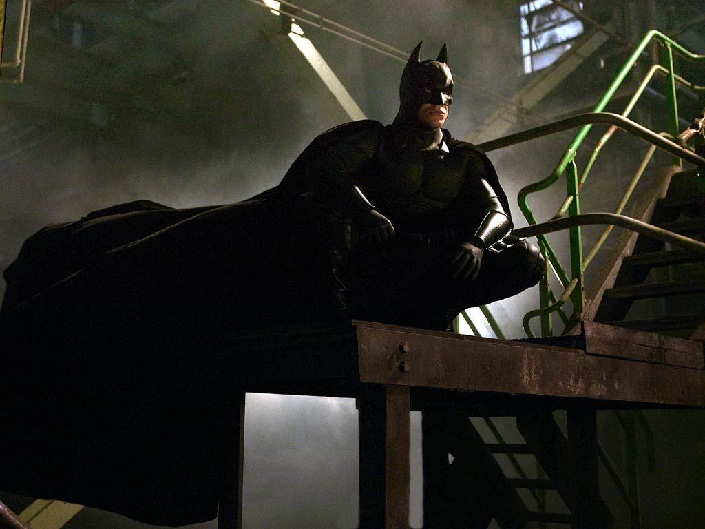Batman Sitting On Stairs Wallpaper 1024x768