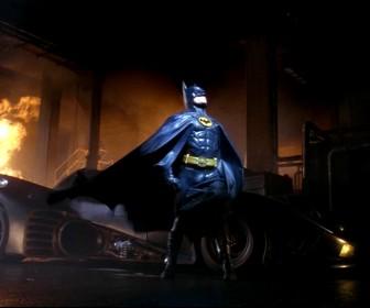 Batman With Batmobile Portrait Wallpaper