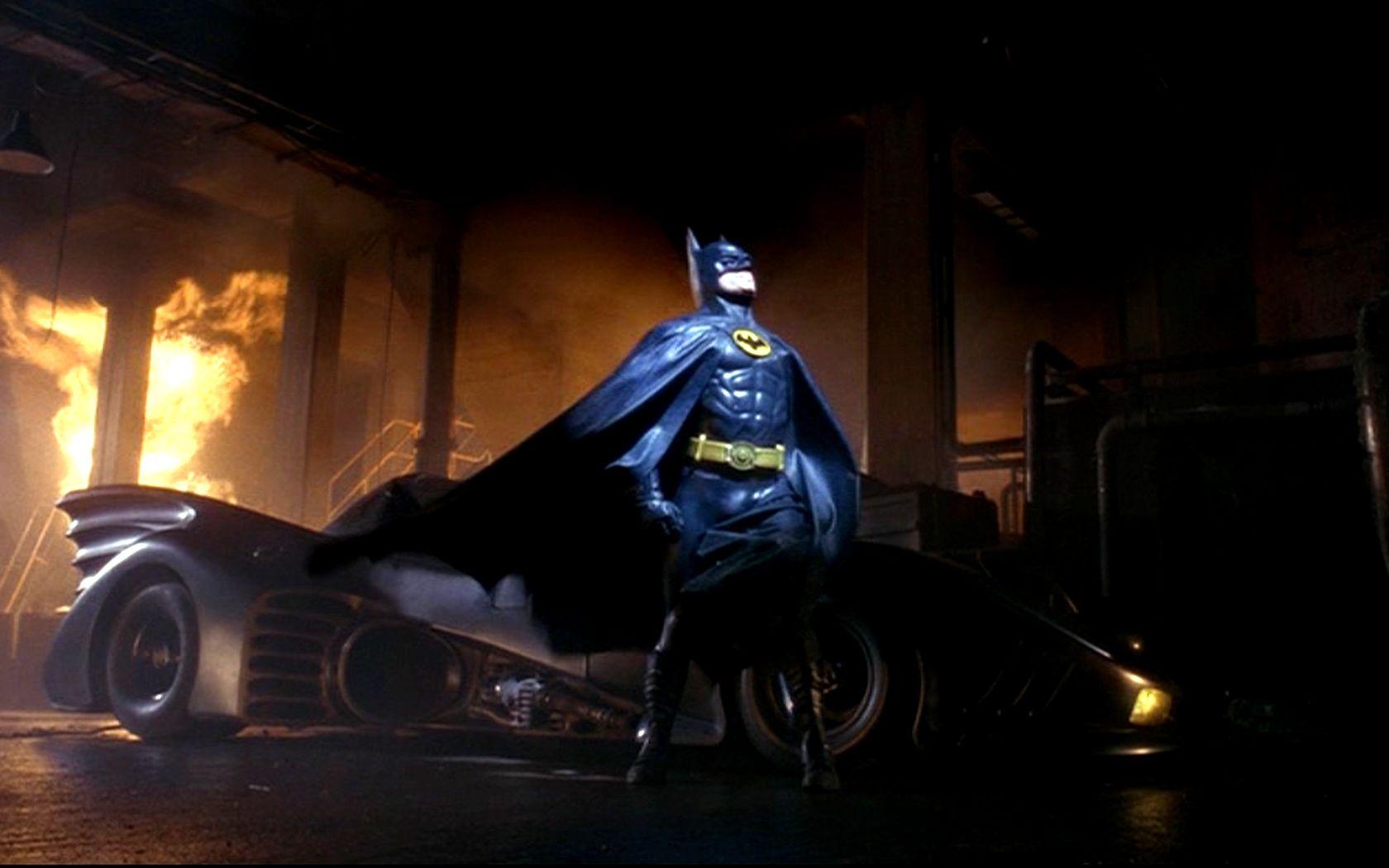 Batman With Batmobile Portrait Wallpaper 1680x1050