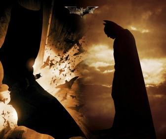 Batman With Flying Bats Wallpaper