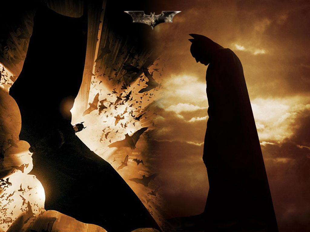 Batman With Flying Bats Wallpaper 1024x768