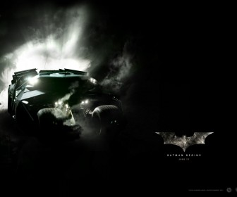 Batmobile Batman Begins Poster Wallpaper