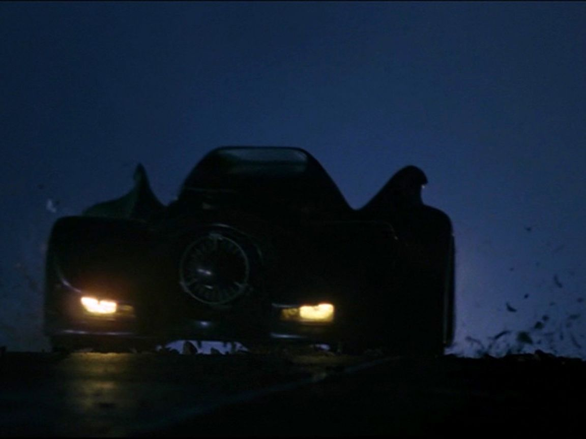 Batmobile In The Dark Wallpaper 1152x864