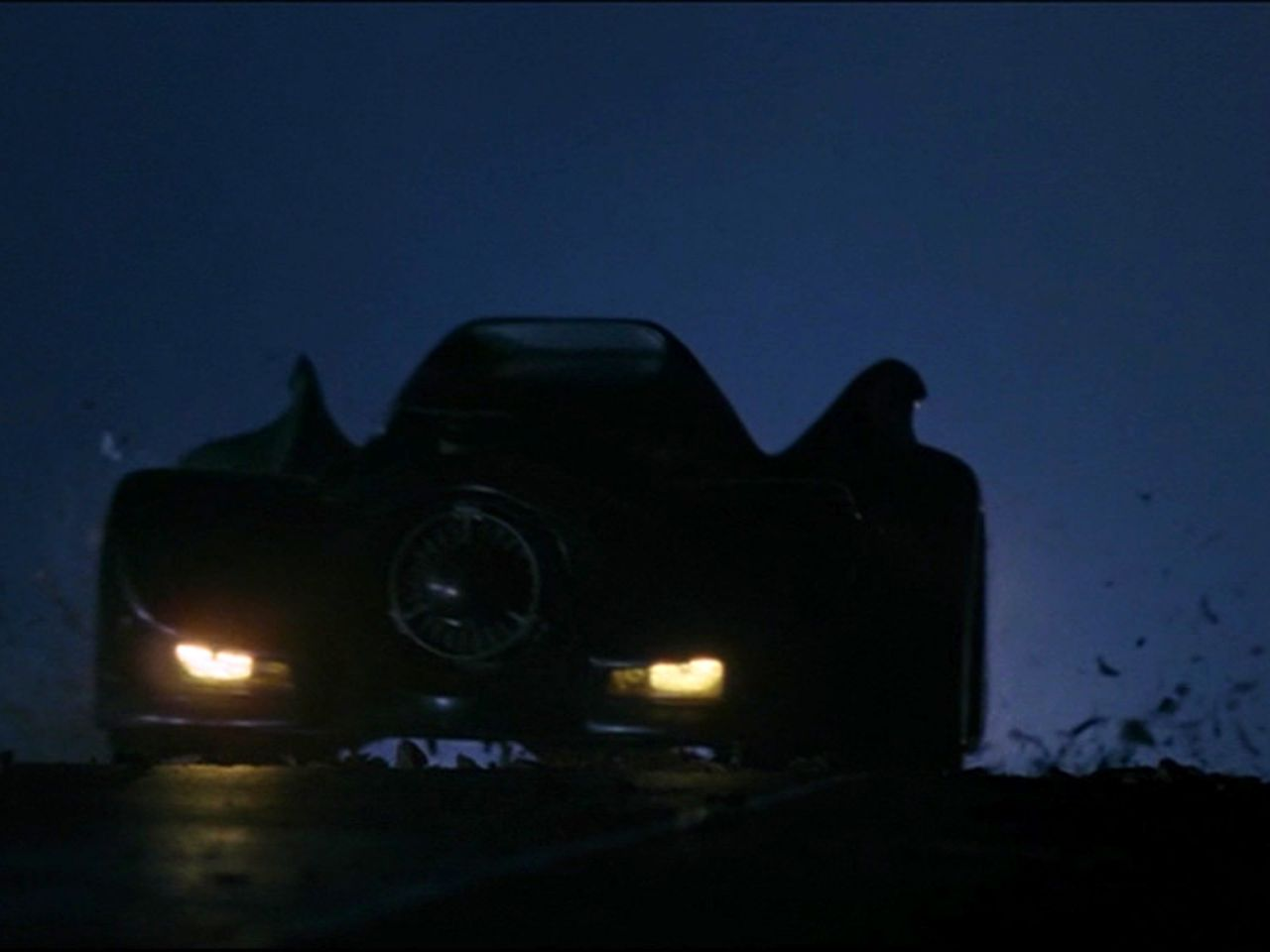 Batmobile In The Dark Wallpaper 1280x960