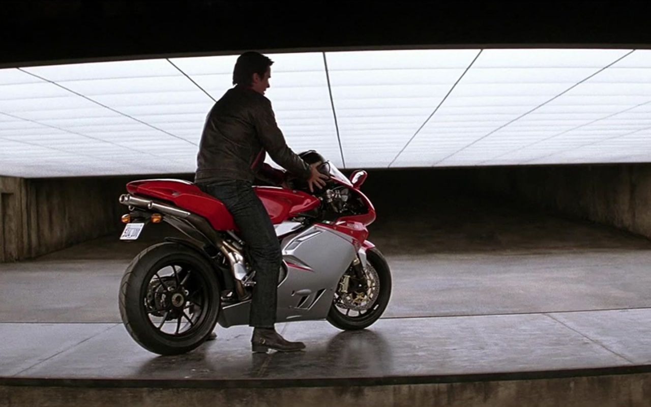 Bruce Wayne On Big Bike Wallpaper 1280x800
