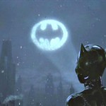 Catwoman Looks At Bat Signal Wallpaper