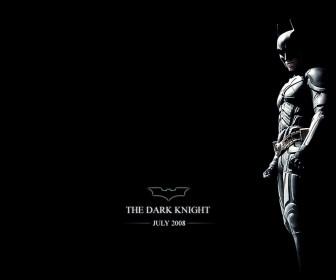Dark Knight Black Background Poster Wallpaper