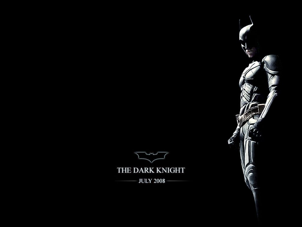 Dark Knight Black Background Poster Wallpaper 1024x768