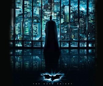 Dark Knight Looking Over Gotham Wallpaper