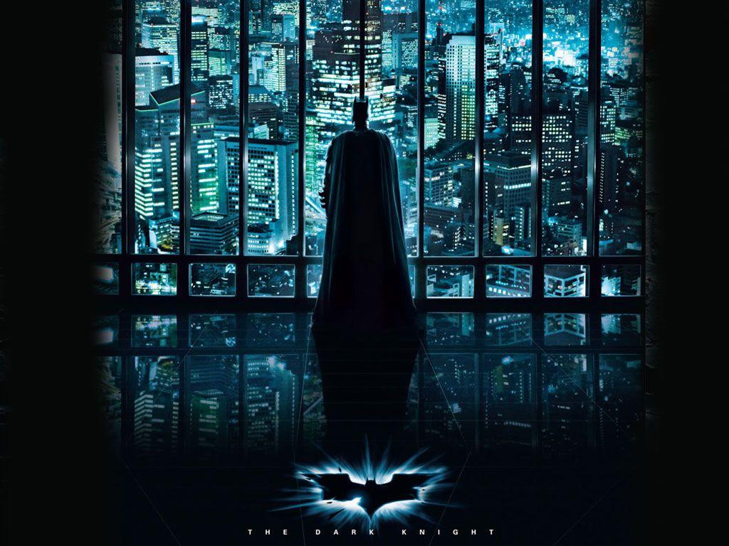 Dark Knight Looking Over Gotham Wallpaper 1024x768