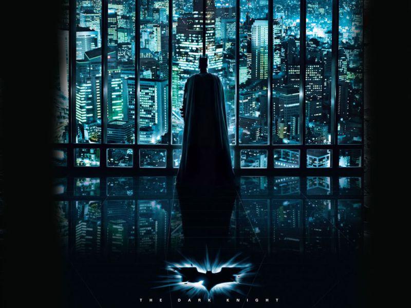 Dark Knight Looking Over Gotham Wallpaper 800x600