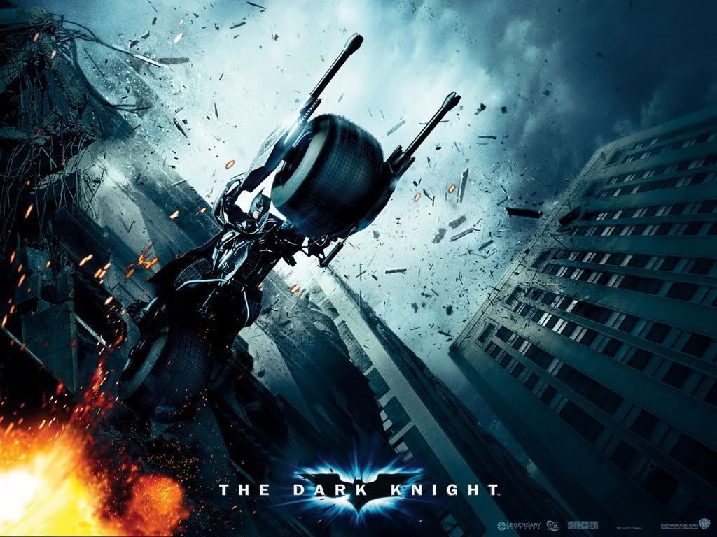 Dark Knight Motorcycle Poster Wallpaper 1024x768