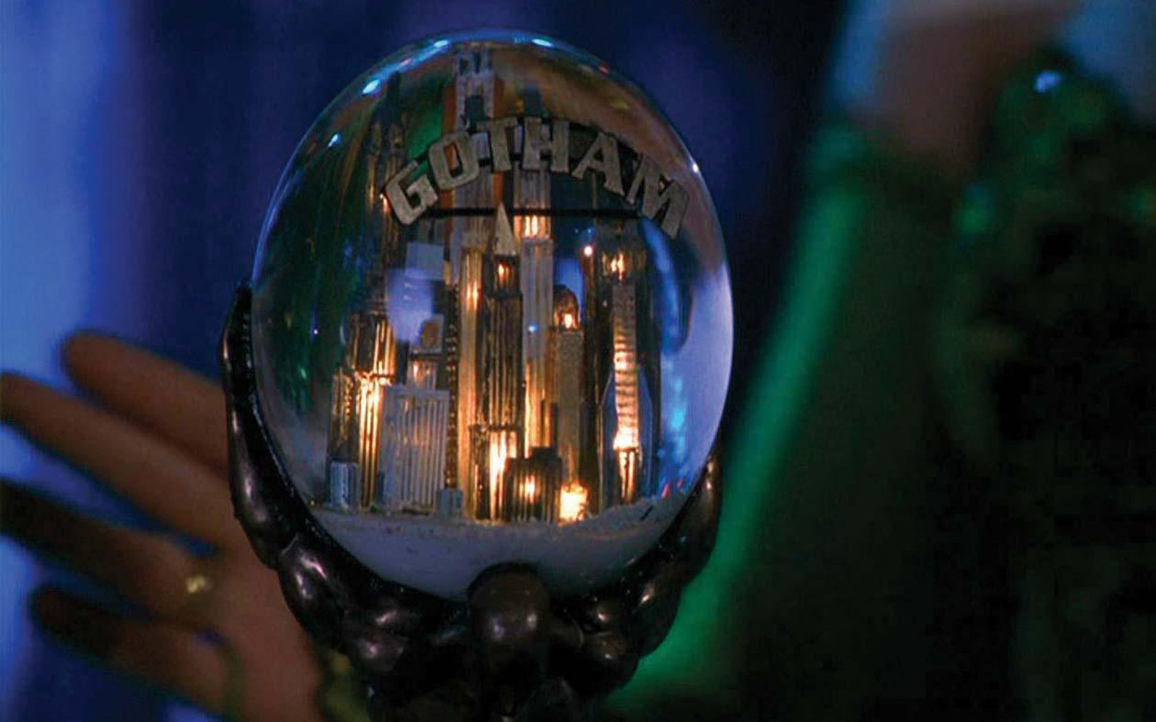Gotham City Snowglobe Wallpaper 1680x1050