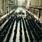 Gotham Cops Parade In Streets Wallpaper
