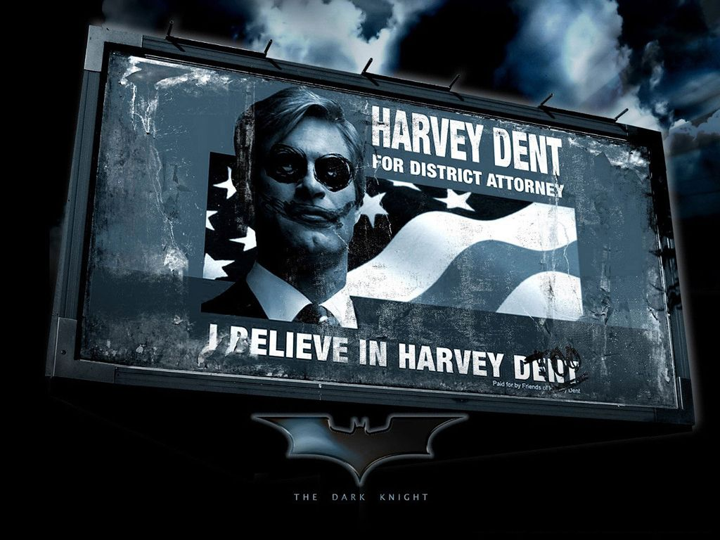 Harvey Dent Billboard Wallpaper 1024x768