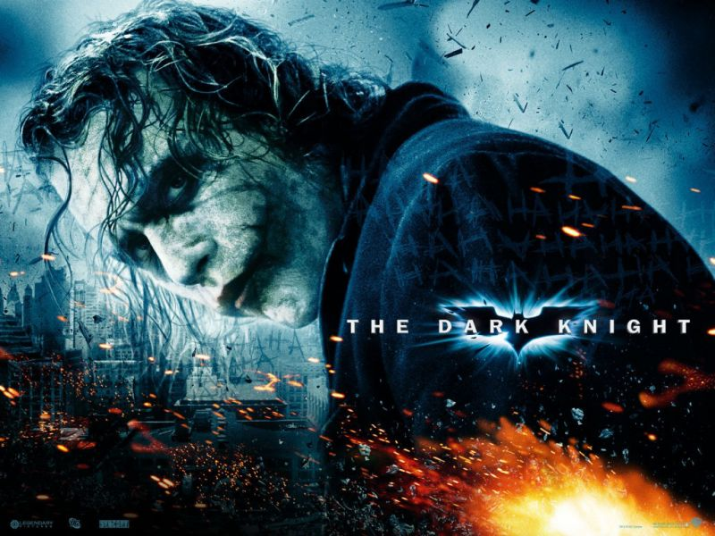Heath Ledger Dark Knight Poster Wallpaper 800x600