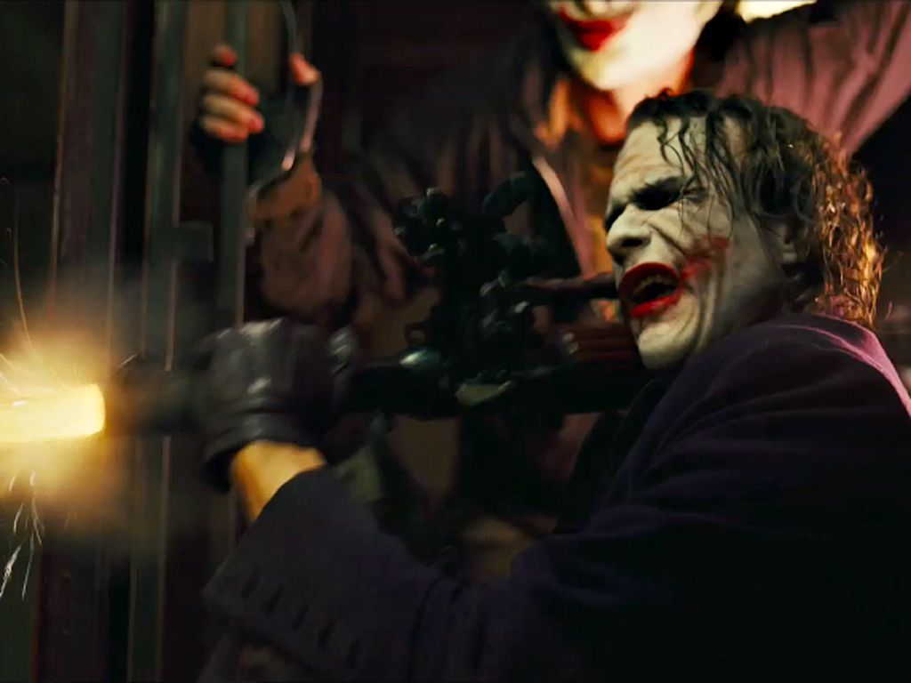 Joker Fires Bazooka Wallpaper 1024x768