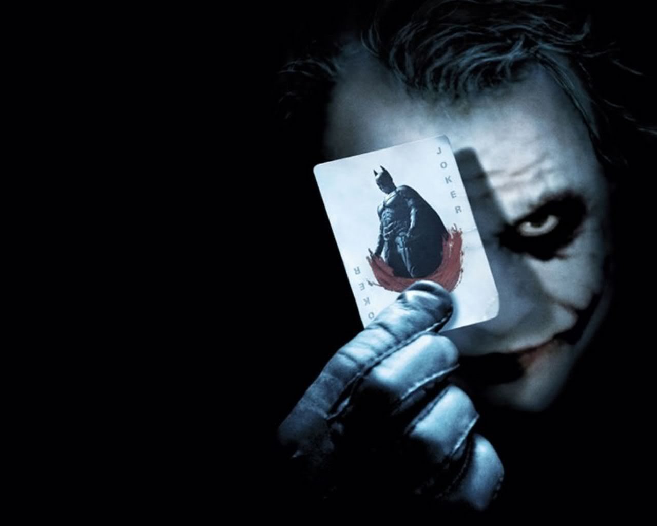 Joker Holding Batman Card Portrait Wallpaper 1280x1024
