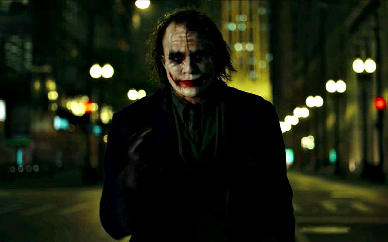 Joker In Street Close Up Wallpaper 1280x800
