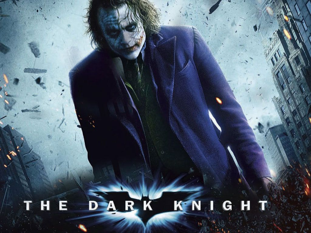 Joker The Dark Knight Poster Wallpaper 1024x768