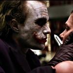 Joker Threathens Rachel With Knife Wallpaper
