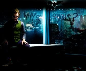 Joker Why So Serious Overlooking Gotham Wallpaper