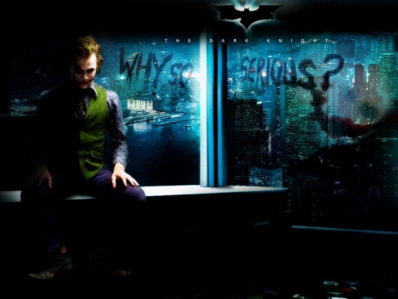 Joker Why So Serious Overlooking Gotham Wallpaper 800x600