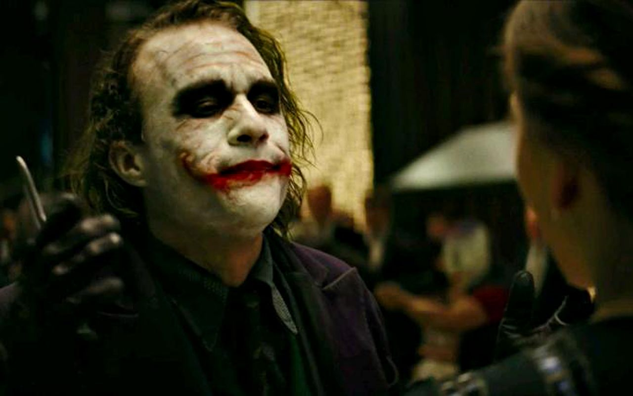 Joker With Knife Talks To Rachel Wallpaper 1280x800