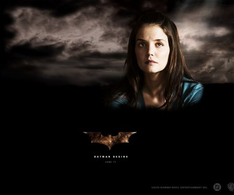 Katie Holmes Batman Begins Poster Wallpaper