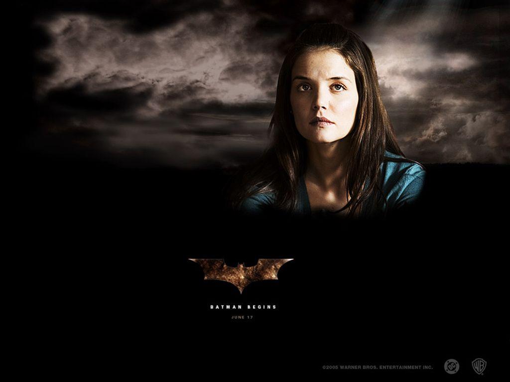Katie Holmes Batman Begins Poster Wallpaper 1024x768